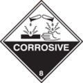 100 S/a Labels 100x100 Corrosive