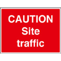 Caution Site Traffic (aluminium,600 X 450mm)