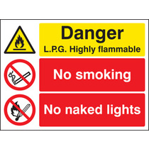 Lpg Highly Flammable (Self Adhesive Vinyl,400 X 300mm)
