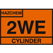 2we Cylinder Storage Placard - Self Adhesive
