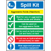 Spill Kit Agressive Fluids (Self Adhesive Vinyl,300 X 250mm)