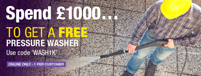 Receive a FREE Pressure Washer when you spend £1000!