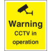Warning Cctv In Operation (Self Adhesive Vinyl,300 X 250mm)