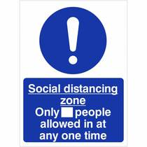 VCC.02C Social Distancing Zone Only_People Allowed - 300MM x 400MM