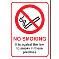 Prohibition & No Smoking Signs 53043