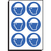 Safety Helmet Symbol Sht Of 6 50mm Dia