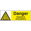 Danger Explosive Atmosphere Bs5499 (Rigid Plastic,200 X 150mm)