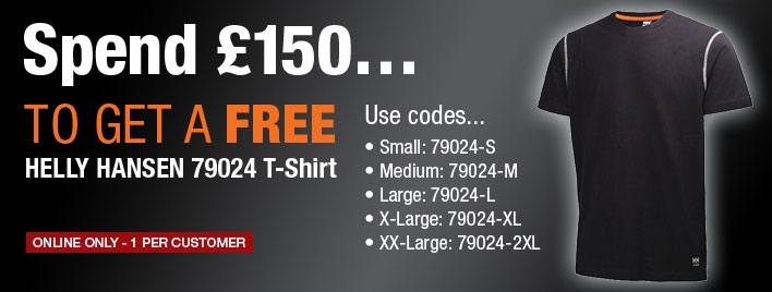 Receive a FREE Helly Hansen T-Shirt when you spend £150!