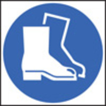 Safety Boots Symbol (Rigid Plastic,400 X 400mm)