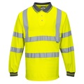 S277 Hi-Vis Yellow Long Sleeve Polo Shirt