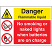 Highly Flamm/battery Charging (Self Adhesive Vinyl,400 X 300mm)