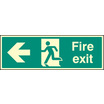 Fire Exit - Left (Self Adhesive Vinyl,600 X 200mm) (22003M) (22003M)