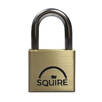 Squire LN4KA - Lion Range - 40mm Premium Solid Brass Double Locking Padlock - Open Shackle - Keyed Alike 40x21.1mm