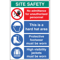 Site Safety Board 600x900mm (58035)