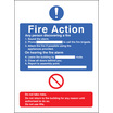General Fire Action With Lift (Rigid Plastic,300 X 250mm)