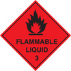 100 S/a Labels 100x100 Flammable Liquid