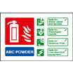 Abc Powder Ident (photo. Self Adhesive Vinyl,100 X 150mm)