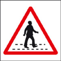 Pedestrian Crossing (aluminium,400 X 400mm)
