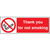 Please Do Not Smoke, Thank You (Rigid Plastic,300 X 100mm)