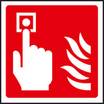 Fire Alarm Call Point Symbol (Self Adhesive Vinyl,100 X 100mm) (21017U)