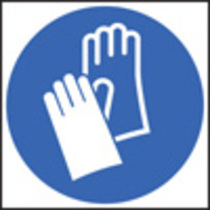 Hand Protection Symbol (Rigid Plastic,200 X 200mm)