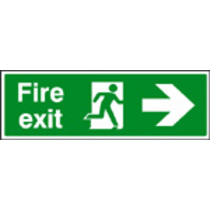 Fire Exit - Down (Self Adhesive Vinyl,600 X 200mm) (22024M)