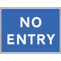 No Entry (Rigid Plastic,600 X 450mm)