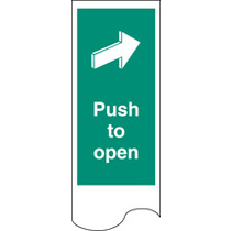Door Plate - Push To Open (52137)