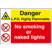 Lpg Highly Flammable (Self Adhesive Vinyl,600 X 450mm)