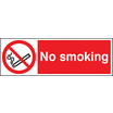 No Smoking (Rigid Plastic,600 X 400mm)