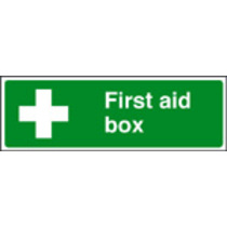 First Aid Box Safety Sign Self Adhesive Vinyl