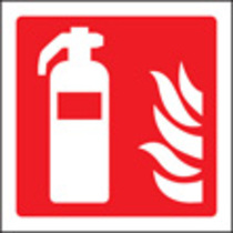 Fire Extinguisher Symbol (Self Adhesive Vinyl,150 X 150mm) (21018C)