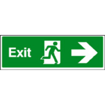 Exit - Right (photo. Rigid Plastic,600 X 200mm)