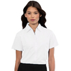 933F Ladies Short Sleeve White Blouse