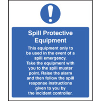 Spill Protection Equipment (Self Adhesive Vinyl,300 X 250mm)