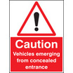 Caution, Vehicles Emerging From Etc (aluminium,600 X 450mm)