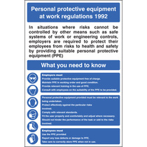 Personal Protective Equipment Regs