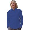 65012 Ladies Long Sleeve Mid-Blue Poplin Shirt
