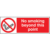 No Smoking Beyond This Point (Rigid Plastic,600 X 200mm)