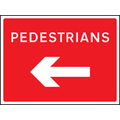 Pedestrians Arrow Left 600x450mm C2 Zint