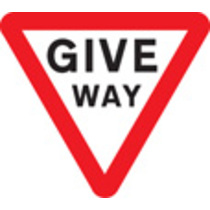 Give Way Class I 600mm Triangle