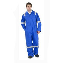 Royal Blue Hi-Vis FR Boilersuit c/w Double Bands
