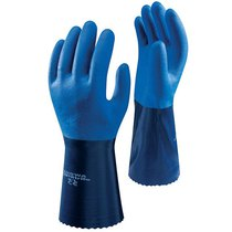 Showa 720 Blue Nitrile Dipped Gloves - Size 9