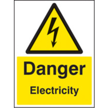 Danger Electricity (Self Adhesive Vinyl,200 X 150mm)