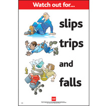 Safety Poster - Slips Trips Falls