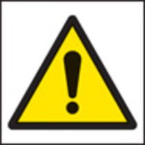 Danger Symbol (Self Adhesive Vinyl,200 X 200mm)