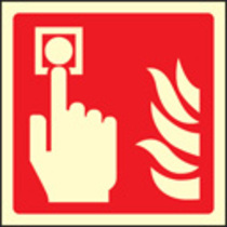Fire Alarm Call Point Symbol (Rigid Plastic,150 X 150mm)