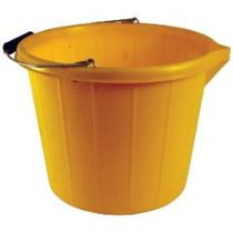 3 Gallon Plastic V-Lip Bucket - Yellow