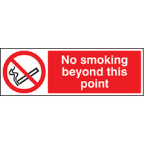 No Smoking Beyond This Point (Rigid Plastic,600 X 400mm)