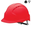 JSP Evo 3 Vented Helmet Red